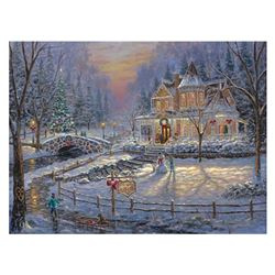 """Robert Finale, """"Christmas Homecoming"""" Hand Signed, Artist Embellished Limited Ed"""
