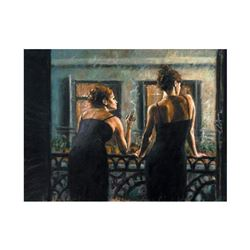 """Fabian Perez, """"Cenisientas Of/Night"""" Hand Textured Limited Edition Giclee on Boa"""