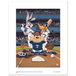 """""""At the Plate (Rangers)"""" Numbered Limited Edition Giclee from Warner Bros. with"""
