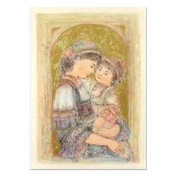 """Edna Hibel (1917-2014), """"Mother and Child of Thera"""" Limited Edition Lithograph,"""