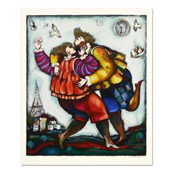 """Michael Kachan, """"The Kiss"""" Limited Edition Serigraph, Numbered and Hand Signed w"""