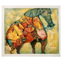 """Gregory Kohelet, """"Horse"""" Hand Signed Limited Edition Serigraph with Letter of Au"""