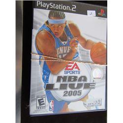 LOT OF 3 PLAYSTATION 2 GAMES (NBA LIVE 2005, NBA LIVE 2007 & DISNEY'S THINK FAST)