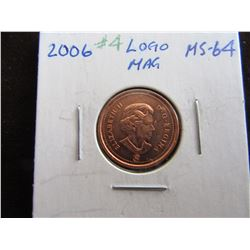 2006 CANADA LOGO MAGNETIC CENT (MS-64)