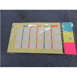 """NEW:  WEEKLY DESK PLANNER (NO DATE; APPROX. 10"""" X 19"""")"""