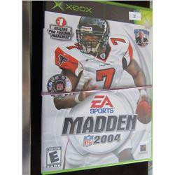 LOT OF 3 XBOX GAMES (MADDEN NFL 2004, FINDING NEMO & TOM CLANCY'S RAINBOW SIX, ETC)