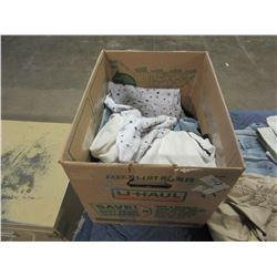 BOX OF JEANS, PANTS, ETC (VARIOUS SIZES)