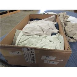 BOX OF JEANS, BLOUSES, ETC (VARIOUS SIZES)