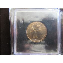 2001 GOLD PLATED NEW YORK 25 CENTS (CASED)