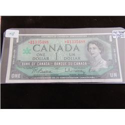 1967 CANADA STAR REPLACEMENT $1 BILL