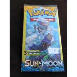 LOT OF 3 FACTORY SEALED POKEMON SUN & MOON ADDITIONAL GAME CARDS
