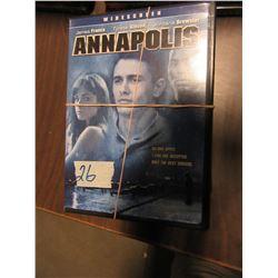 BUNDLE OF 8 DVD'S INCLUDING ANNAPOLIS, ETC