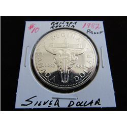 1982 REGINA PROOF CANADA SILVER DOLLAR