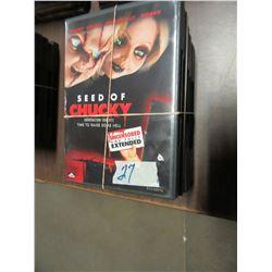 BUNDLE OF 8 DVD'S INCLUDING CHUCKY, ETC
