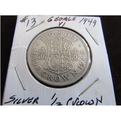 1949 KING GEORGE VI SILVER HALF CROWN