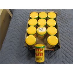 FLAT OF 12 TUBS TOXIC WASTE SOUR CANDY