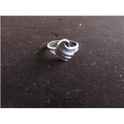 TIBETAN SILVER SWIRL DESIGN RING (SIZE 7)