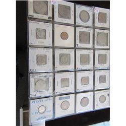 STOCK SHEET GERMANY, ROMANIA, MEXICO & NICARAGUA COLLECTIBLE COINS