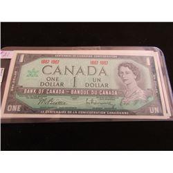 1967 CENTENNIAL SET OF TEN (NO SERIAL NUMBERS CANADA $1 BILLS