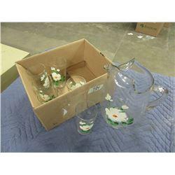PITCHER & 6 GLASSES