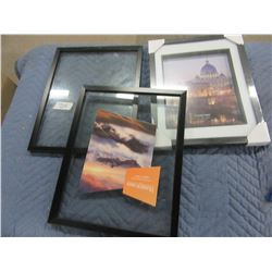 """3 PICTURE FRAMES (2 - 11"""" X 14"""" & 1 - 8"""" X 10"""")"""