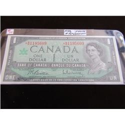 1967 CANADA CENTENNIAL $1 BILLS (STAR SERIAL NUMBER REPLACEMENT NOTE)