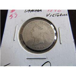 1892 CANADA VICTORIAN SILVER QUARTER