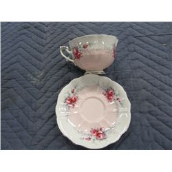 COLLECTIBLE:  ROSE MARIE SERIES SUNSET ENGLISH CUP & SAUCER