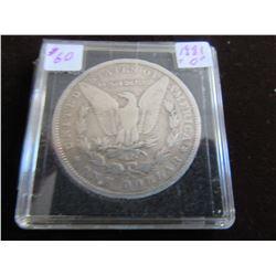 """1881 """"0"""" USA MORGAN SILVER DOLLAR"""
