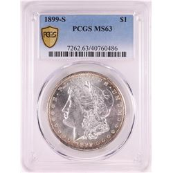 1899-S $1 Morgan Silver Dollar Coin PCGS MS63
