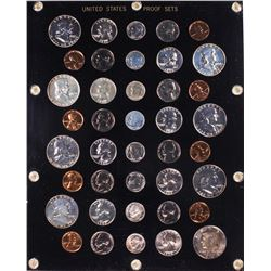 1957-1964 (5) Coin Proof Sets in Capitol Plastic Holder