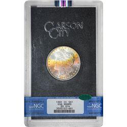 1881-CC $1 Morgan Silver Dollar Coin GSA Hoard NGC MS63* Star CAC Amazing Toning