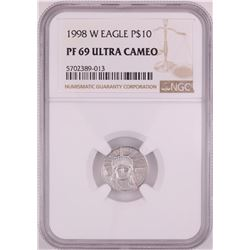 1998-W $10 Proof Platinum American Eagle Coin NGC PF69 Ultra Cameo