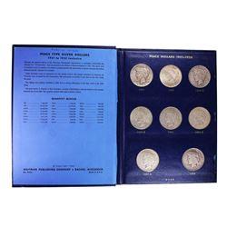 1921-1935 $1 Peace Silver Dollar Coins in Folder