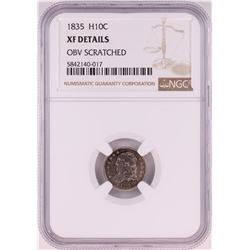 1835 Capped Bust Half Dime Coin NGC XF Details