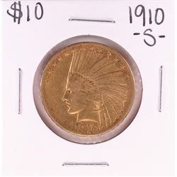 1910-S $10 Indian Head Eagle Gold Coin
