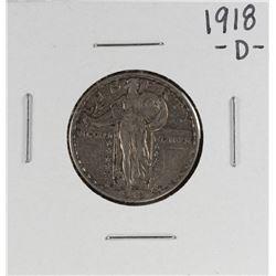 1918-D Standing Liberty Quarter Coin