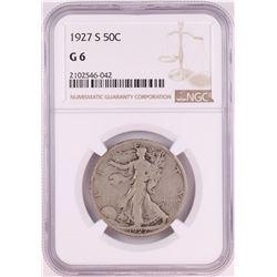 1927-S Walking Liberty Half Dollar Coin NGC G6