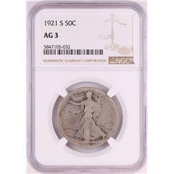1921-S Walking Liberty Half Dollar Coin NGC AG3