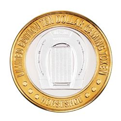 .999 Silver Binion's Horseshoe Las Vegas, NV $10 Casino Limited Edition Gaming Token