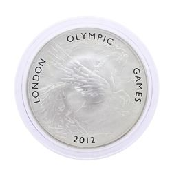 2012 Great Britain Ten Pounds London Olympic Games 5 Oz. Silver Coin