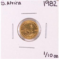 1982 South Africa 1/10 oz. Krugerrand Gold Coin