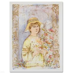 "Edna Hibel (1917-2014) ""Flora"" Limited Edition Lithograph"