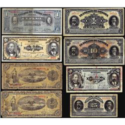 Lot of (7)Assorted Mexican Revolution Currency Notes