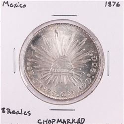 1876 Mexico 8 Reales Silver Coin Chopmarked