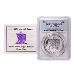 2011 Proof Isle of Man Silver Coin PCGS PR69DCAM