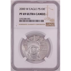 2000-W $100 Proof Platinum American Eagle Coin NGC PF69 Ultra Cameo