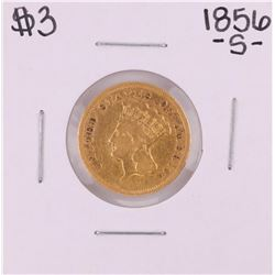 1856-S $3 Indian Princess Head Gold Coin
