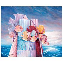 Avi Belaish Untitled Original Acrylic On Canvas