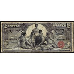 1896 $2 Educational Silver Certificate Note